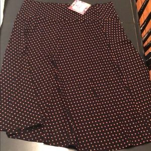 Flirty polka dotted skirt NWT